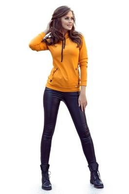262-1 Garstyčių spalvos laisvalaikio džemperis