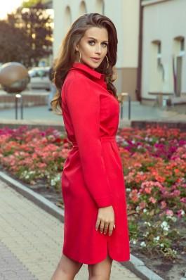 284-1 CAMILLE Raudona marškinių tipo suknelė