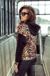 279-1 Kangaroo hoodie - leopard pattern