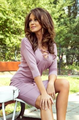230-5 JANET Rožinė laisvalaikio suknelė