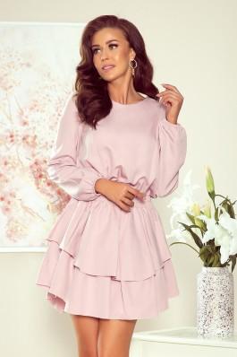 289-1 MATTIE Stilinga rožinė suknelė