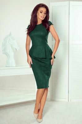 192-10 Elegantiška tamsiai žalia suknelė