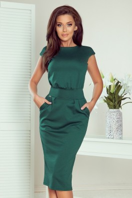 144-8 Dress midi SARA - green color
