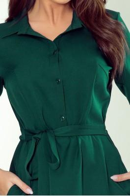 286-1 SANDY Flared shirt dress - green