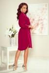 258-1 BROOKE Shirt dress - Burgundy color