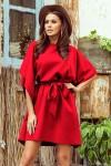 287-3 SOFIA Raudona plazdanti suknelė