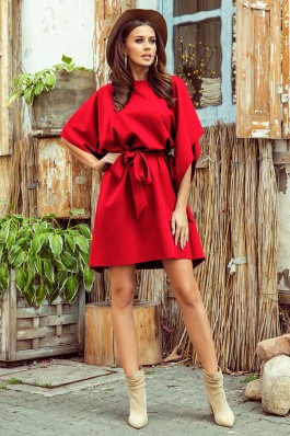 287-3 SOFIA Butterfly dress - red