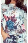 13-115 Elegantiška patogi gėlėta suknelė