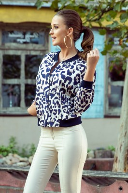 280-1 Blouse with a zip - panther