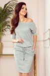 13-117 Sport dress made of sweater material - gray