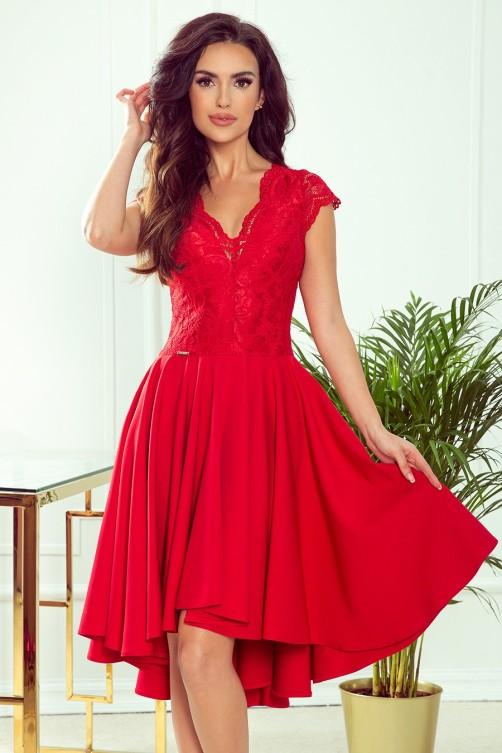 300-2 PATRICIA - Puošni proginė suknelė su nėriniais