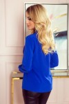 140-11 Blouse with bond - classic blue