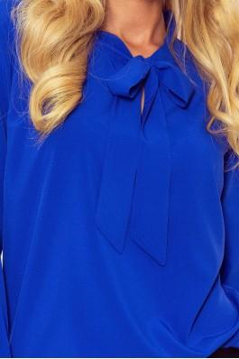 140-11 Sodrios mėlynos spalvos elegantiška palaidinė