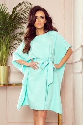 287-6 SOFIA Mėtinė plazdanti suknelė