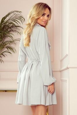 298-1 CLARA - Shirt dress with puffy sleeves - grey