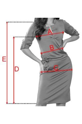 161-5 Nuostabi elegantiška suknelė bet kokiai progai - švelni rožinė Numoco