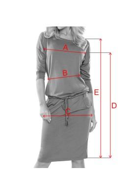13-76 Miško samanų spalvos suknelė Numoco
