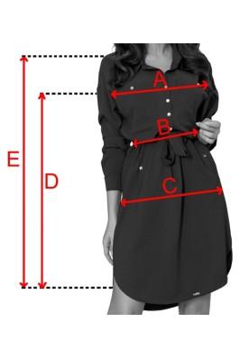 258-1 BROOKE Marškinių tipo bordo suknelė
