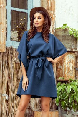 287-7 SOFIA Įspūdinga tamsiai mėlyna suknelė