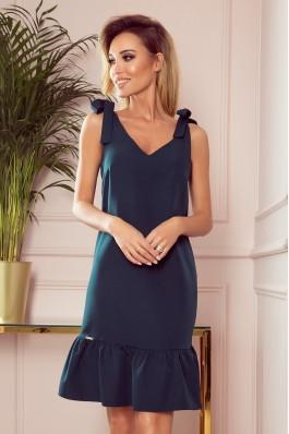 306-2 ROSITA Žavi tamsiai žalia suknelė