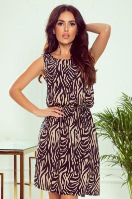 296-2 VICTORIA Stilinga zebro rašto suknelė