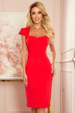 318-1 Elegantiška raudona suknelė