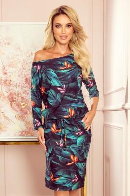 13-119 Stilinga laisvalaikio suknelė su drugeliais