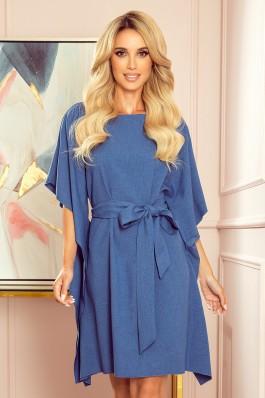 287-9 SOFIA Įspūdinga džinsinės spalvos suknelė