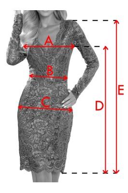170-5 Nėriniuota suknelė - Burgundiška