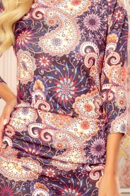 59-10 Išskirtinio rašto tiesi suknelė
