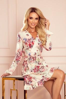 297-2 CAROLINE Elegantiška gėlėta suknelė