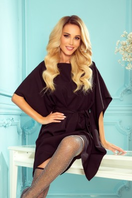 287-12 SOFIA Juoda prabangi aukštos kokybės suknelė