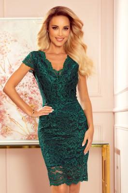 316-3 Žalia nėriniuota suknelė