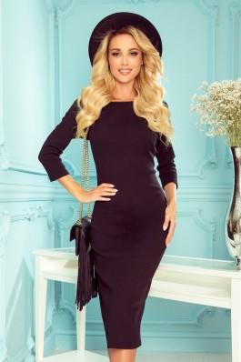 331-2 Priglundanti juoda suknelė