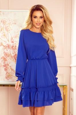 336-1 Mėlyna šifoninė suknelė