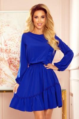 342-1 Mėlyna asimetrinė suknelė