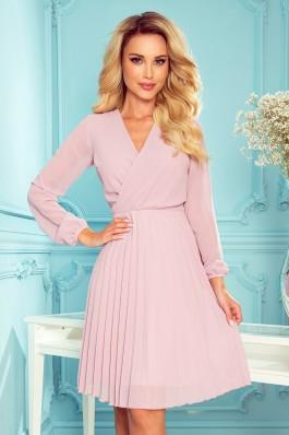 313-4 ISABELLE Plisuota puošni rožinė suknelė