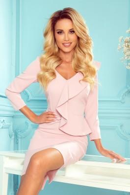 327-1 Elegantiška pastelinė rožinė suknelė