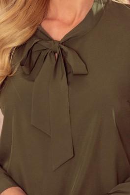 140-14 Elegantiška khaki spalvos palaidinė