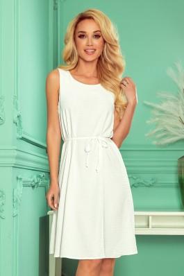 296-4 VICTORIA Lengva balta vasariška suknelė