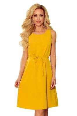 296-5 VICTORIA Medaus spalvos vasariška suknelė