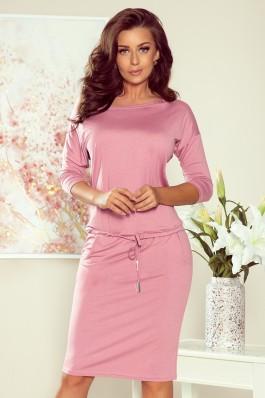 13-132 Rožinė laisvalaikio suknelė