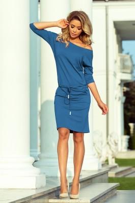 13-133 Tampri džinsinės spalvos laisvalaikio suknelė