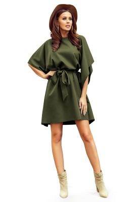 287-13 SOFIA Įspūdinga khaki suknelė