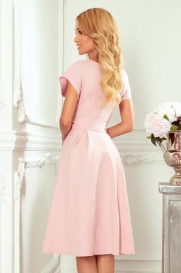348-1 SCARLETT - Nuostabi puošni rožinė suknelė