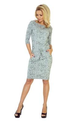13-10 Laisvalaikio stiliaus suknelė su užrašais Numoco