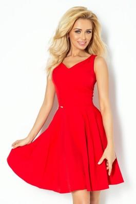 114-3 Raudona suknelė su iškirpte Numoco