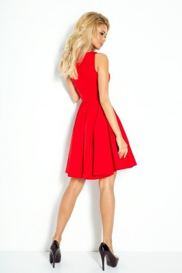 Dress circle - heart-shaped neckline - Red 114-3 Numoco